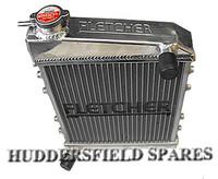 2 Core Hi Flow Supercool Fletcher Alloy Radiator for classic Mini