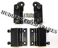 Full set top and bottom late internal door hinges with fixings for classic Mini