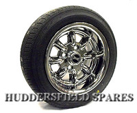 6x12 Chrome Superlight Deep Dish Alloy Wheel Package