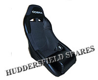 Cobra Clubman Vinyl/Spacer Black and Grey Signature Seat for Classic Mini