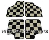 Super Deluxe black/white Chequer 4 piece overmats for classic Mini