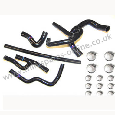 Black SPI hoses with clips