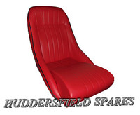 red piped black classic no headrest
