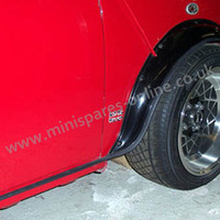 Black Gripper rubber Sill and Arch trim - full car for classic mini
