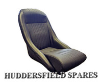 Cobra Black (no headrest) Basketweave classic Seat for classic Mini
