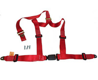 4 Point Red Harness Seat belt Classic Mini
