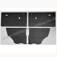 .Quality Black stitched black vinyl doorcards for classic Mini