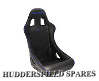 Cobra Monaco black piped blue seat