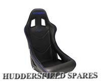 Cobra Monaco black piped blue seat