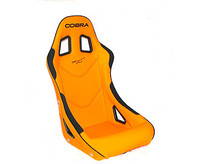 Cobra Orange piped black Vinyl Monaco Pro Seats for Classic Mini