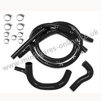 Black silicone coolant hose kit