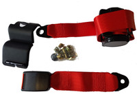 Rear Red seatbelt for Classic Mini