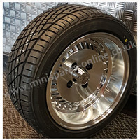 7x13 OS4 Turbo Alloy wheel package for Classic Mini