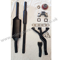 "Stage 1 tuning performance exhaust kit, Centre exit twin box system, HIF38/1.5""/998cc for classic Mini"