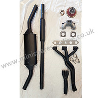 "Stage 1 tuning performance exhaust kit, Side exit twin box system, HIF38/1.5""/998cc for classic Mini"
