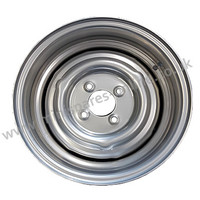 6x13 Smoothie silver steel wheel and tyre package for classic Mini