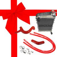 Fletcher Alloy Radiator & Silicone Hose Kit 850/998/1098cc, GRH245 kit.
