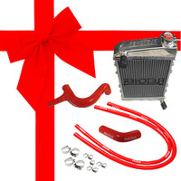 Fletcher Alloy Radiator & Silicone Hose Kit with clips Cooper S/1275cc, GRH247 kit.
