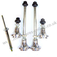 Adjustable ride height cones set of 4 (standard) with 4x knuckles and compression tool for classic Mini