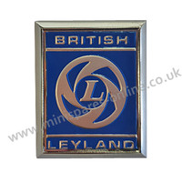 Leyland blue metal A panel badge for classic Mini
