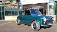 1998 British racing green Rover Mini,  1275 MPI