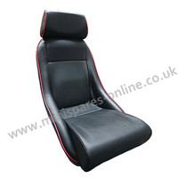 Cobra Classic black piped red (special stitching) vinyl mini seats