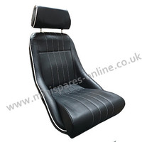 Cobra Classic black piped and stitched white (special stitching) vinyl mini seats