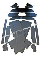 MK1 & MK2 Early black Interior panel kit for classic Mini