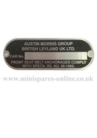 Austin Morris Chassis/Engine plate LMG1022