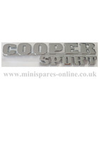 Chrome cooper sport badge classic Mini DAH100920MMM
