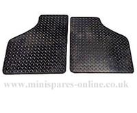 2 Piece front rubber mats set for classic Mini/Pickup/Van
