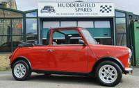 Classic Mini Cabriolet 1987 with full soft top, in red