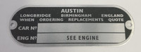 Austin Engine/Chassis plate for classic Mini LMG1025