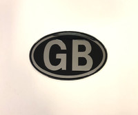 GB badge oval plastic for classic car
