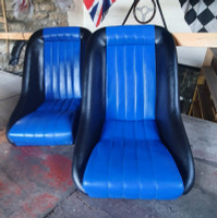 Cobra classic Black/Blue signature seat package for classic Mini, clearance
