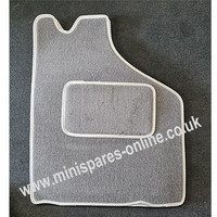 4pce deluxe overmats grey piped in light grey for classic Mini