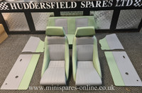Cobra Classic Signature With Headrest Green and Grey Full Interior