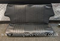 Rear Seat Cover Black Piped Black for Classic Mini