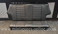 Rear Seat Cover Black Basketweave for Classic Mini