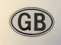 Black & White GB Metal Badge (One Only)