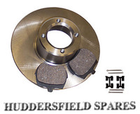"8.4"" brake pads and fitting kit"