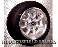 6x12 Silver Superlight Deep Dish Alloy Wheel Package for Classic Mini