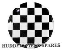 Black and white chequer oversticker 42mm