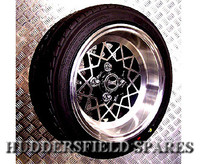 7x13 Alleycat Deep Dish Alloy Wheel Package for Classic Mini