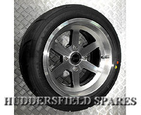 7x13 Supertrax Diamond Cut All Over alloy wheel package for Classic Mini