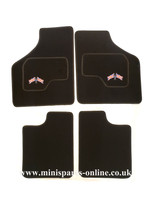 4pce Overmats with Union jack cross flags