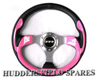 "13"" Pink mountney race steering wheel"