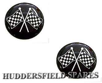 Cross flag 19mm overstickers