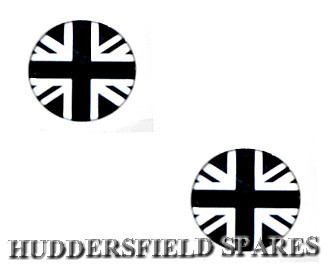 Black and silver uj overstickers 19MM