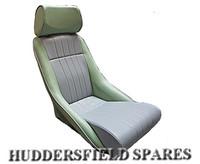Cobra Classic Cooper vinyl seat Sage green/Grey